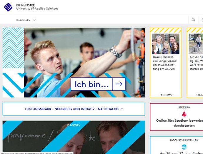 Webseite der Fachhochschule Münster