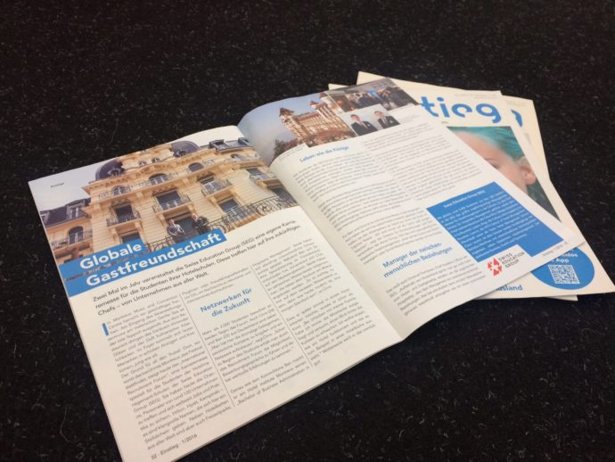 Ein Artikel der Swiss Education Group (SEG) im Einstieg Magazin