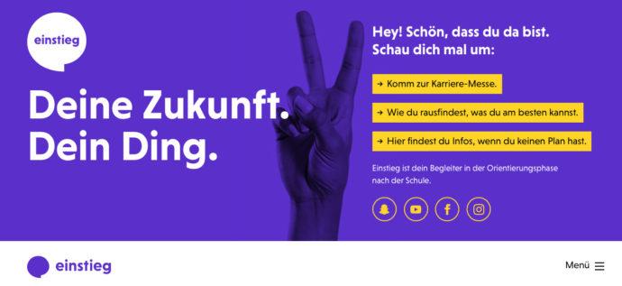 einstieg.com Browseransicht