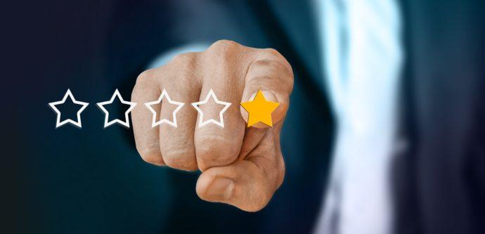 Symbolbild für Online-Bewertung