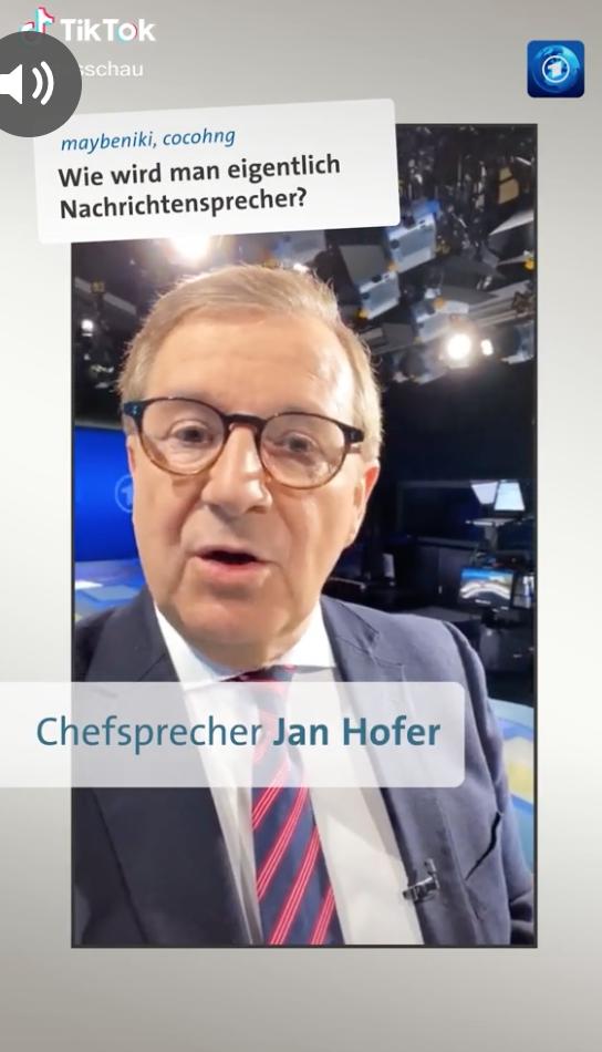 Jan Hofer von der Tagesschau wirbt für den Nachrichtensprechernachwuchs