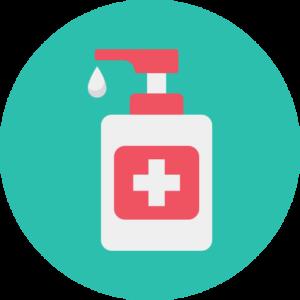 Desinfektionsmittelspender werden an den Eingängen und ausgewiesenen Knotenpunkten sowie in den WC's zur Verfügung stehen.