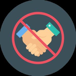 Der Verzicht von Händeschütteln reduziert das Infektionsrisiko