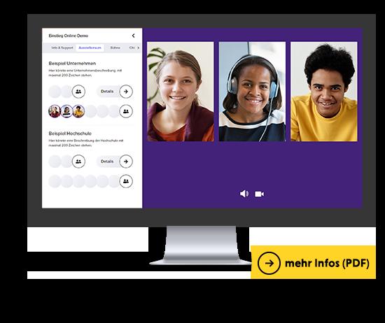 Videochat auf der Einstieg Online